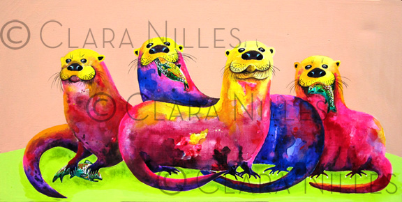 Whimsical painting by Whimsical Artist Clara Nilles